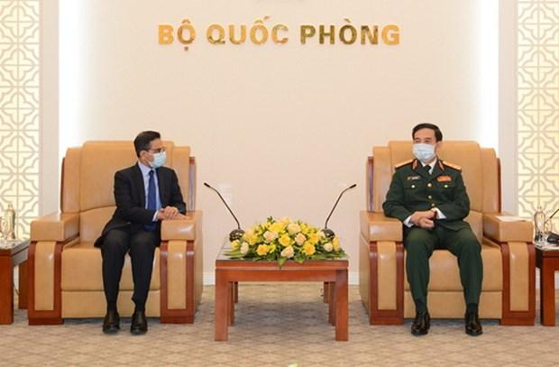 Bo truong Quoc phong Phan Van Giang tiep Dai su An Do va Han Quoc hinh anh 1