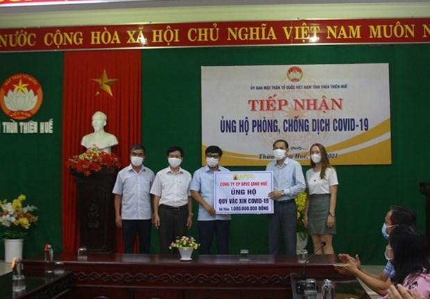 Thua Thien-Hue: Hon 4,2 ty dong va hien vat ung ho phong, chong dich hinh anh 1