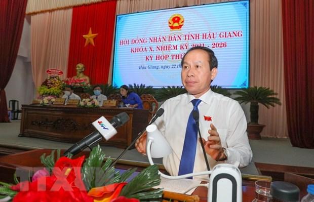Pho Chu tich QH Tran Thanh Man du ky hop thu nhat HDND tinh Hau Giang hinh anh 2