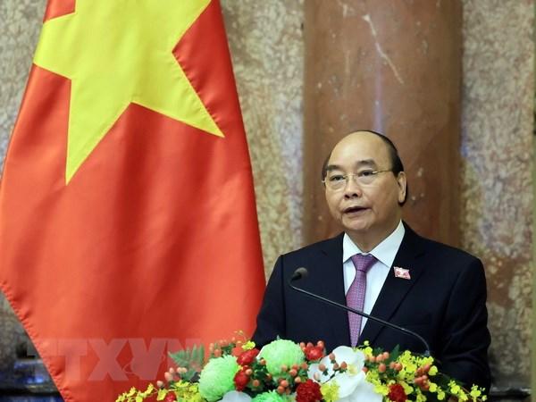 Chủ tịch nước Nguyễn Xuân Phúc. (Ảnh: Thống Nhất/TTXVN)
