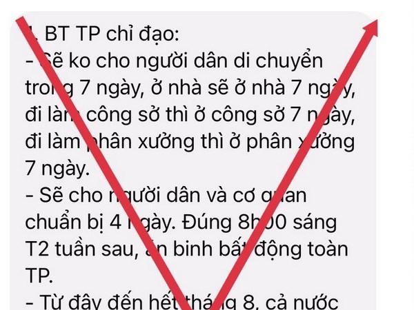"TP.HCM: Thong tin ""khong cho nguoi dan di chuyen trong 7 ngay"" la gia hinh anh 1"