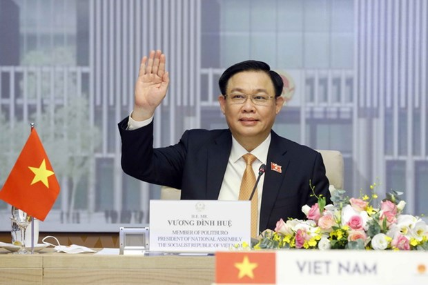 Chu tich Quoc hoi Viet Nam va Thai Lan hoi dam truc tuyen hinh anh 1