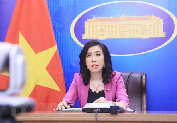 Nguoi Phat ngon Le Thi Thu Hang neu quan diem ve mot so van de quoc te hinh anh 1