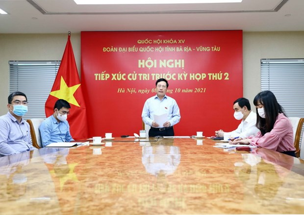 PTT Pham Binh Minh va Truong ban Tuyen giao tiep xuc cu tri hinh anh 1