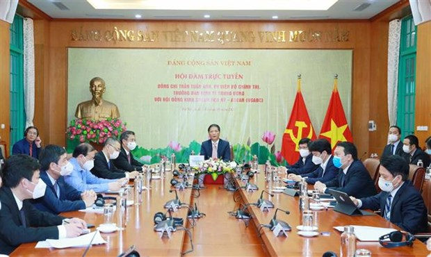 Truong ban Kinh te TW lam viec voi hoi dong kinh doanh Hoa Ky-ASEAN hinh anh 2