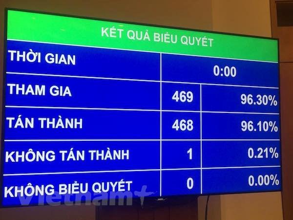 Quoc hoi thong qua Luat To cao voi hon 96% dai bieu tan thanh hinh anh 1