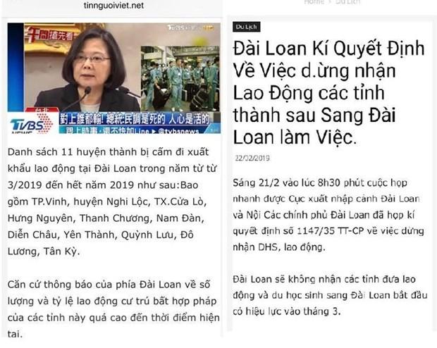 Bac bo thong tin Dai Loan dung tiep nhan lao dong Viet Nam tu thang Ba hinh anh 1