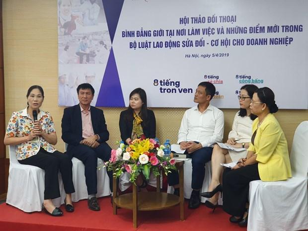 Các đại biểu thảo luận về những thay đổi trong dự thảo Bộ Luật Lao động sửa đổi. Ảnh: PV/Vietnam+