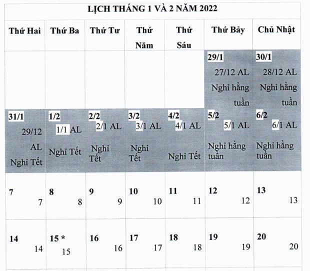 Bo Lao dong de xuat nghi Tet Nham Dan 2022 keo dai 9 ngay hinh anh 1