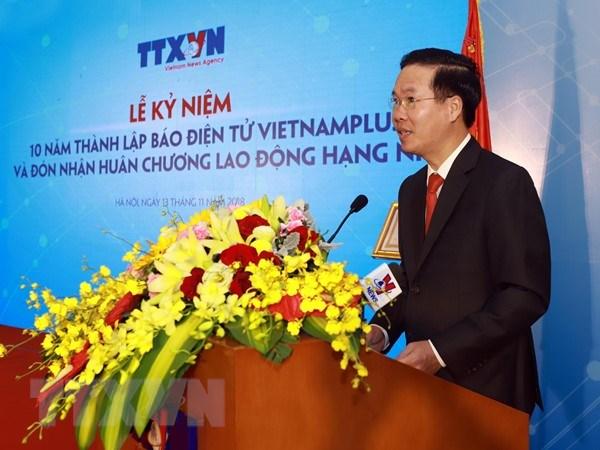 VietnamPlus don Huan chuong Lao dong hang Nhi, ra mat san pham chatbot hinh anh 3