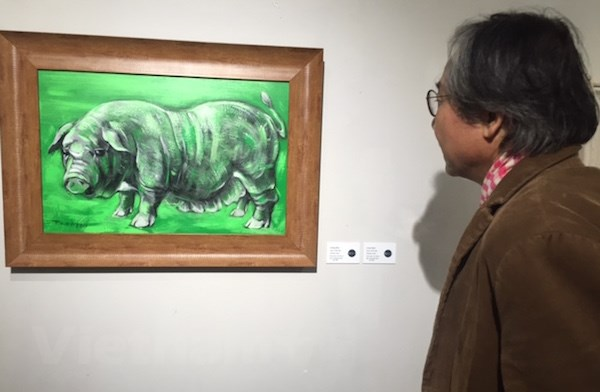 'Tranh Tet Ky Hoi': Nhung tao hinh la ve con giap cua nam 2019 hinh anh 1