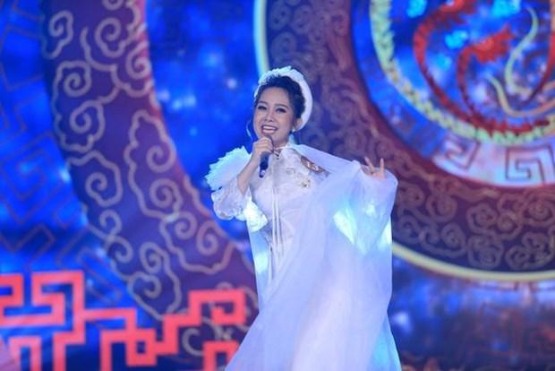 Mai Thy trên sân khấu đêm chung kết thứ ba Sao Mai 2019. (Ảnh: BTC)