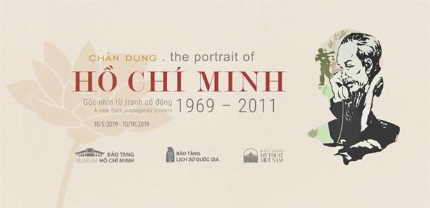 Trung bay 60 tac pham tranh co dong ve chan dung Chu tich Ho Chi Minh hinh anh 1