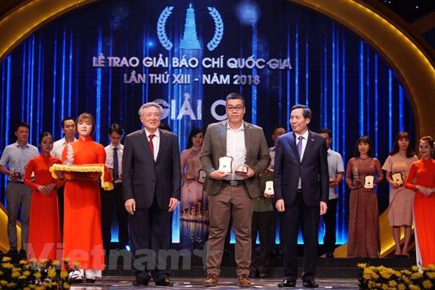 VietnamPlus gianh giai A, B, C tai Giai Bao chi Quoc gia 2018 hinh anh 4