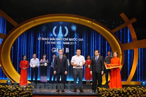 VietnamPlus gianh giai A, B, C tai Giai Bao chi Quoc gia 2018 hinh anh 3