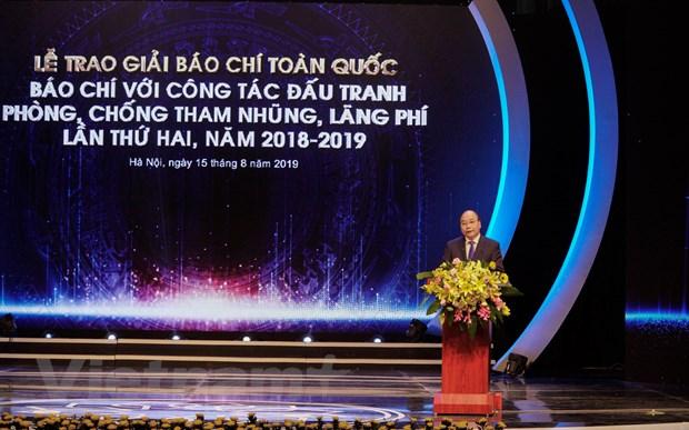 VietnamPlus gianh giai B Giai bao chi dau tranh phong chong tham nhung hinh anh 1