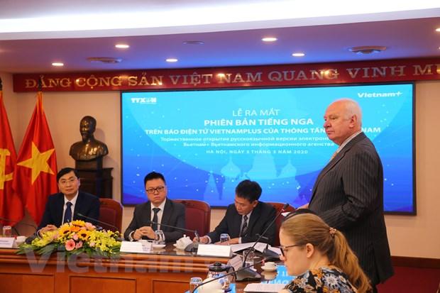 Bao Dien tu VietnamPlus chinh thuc ra mat phien ban tieng Nga hinh anh 4