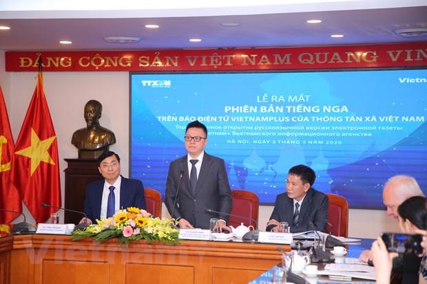 Bao Dien tu VietnamPlus chinh thuc ra mat phien ban tieng Nga hinh anh 2