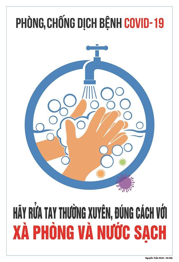 Hoa sy Viet hao hung ve tranh co dong phong, chong dich COVID-19 hinh anh 2