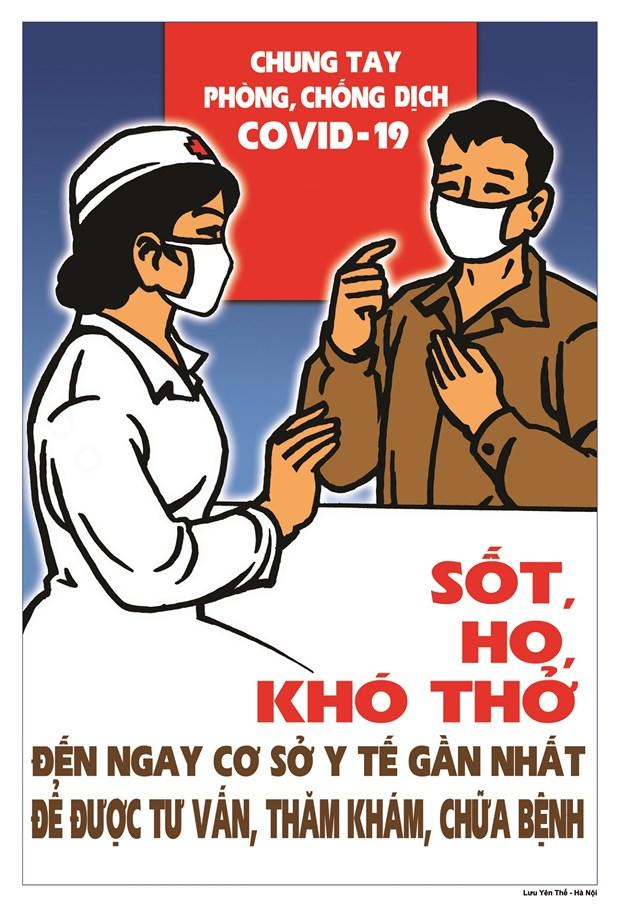 Hoa sy Viet hao hung ve tranh co dong phong, chong dich COVID-19 hinh anh 3