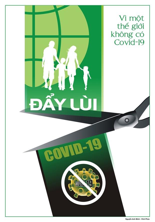 Hoa sy Viet hao hung ve tranh co dong phong, chong dich COVID-19 hinh anh 6