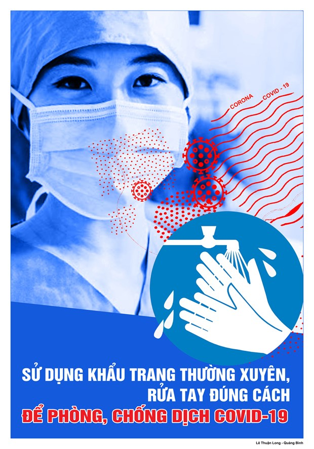 Hoa sy Viet hao hung ve tranh co dong phong, chong dich COVID-19 hinh anh 10