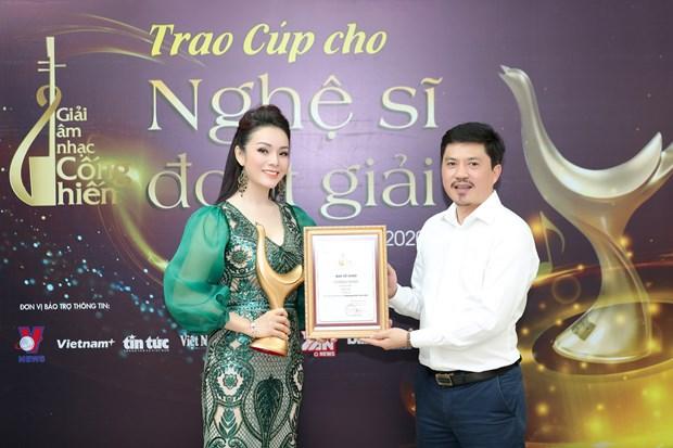 Hoang Thuy Linh ''dai thang'' tai Giai Am nhac Cong hien lan thu 15 hinh anh 3