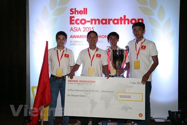 Viet Nam vo dich hang muc xe tiet kiem nhien lieu Shell Eco-marathon hinh anh 1