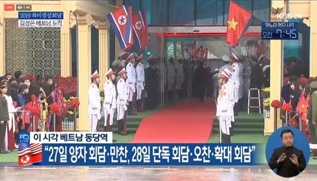 Truc tiep: Chu tich Trieu Tien Kim Jong-un da ve khach san Melia hinh anh 10