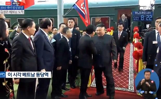 Chủ tịch Kim Jong un đã nhận được sự đón tiếp trọng thể từ phía Việt Nam.