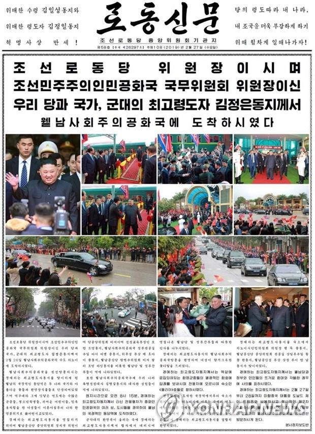 Bao chi Trieu Tien noi Chu tich Kim Jong un duoc don tiep nong nhiet hinh anh 2