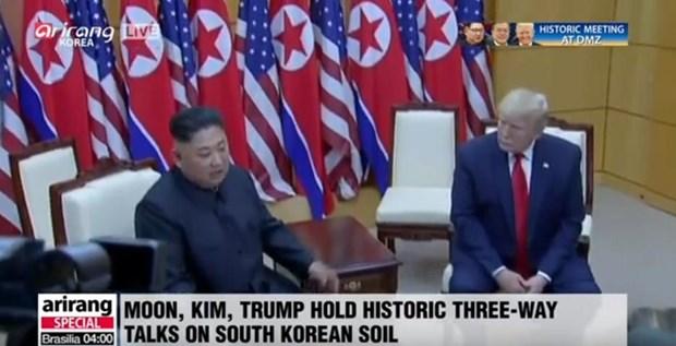 Tong thong Donald Trump danh gia tot cuoc gap ong Kim Jong un o Ha Noi hinh anh 6