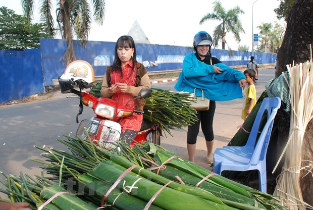 [Photo] Vientiane soi dong don tet co truyen cua nguoi Viet hinh anh 5