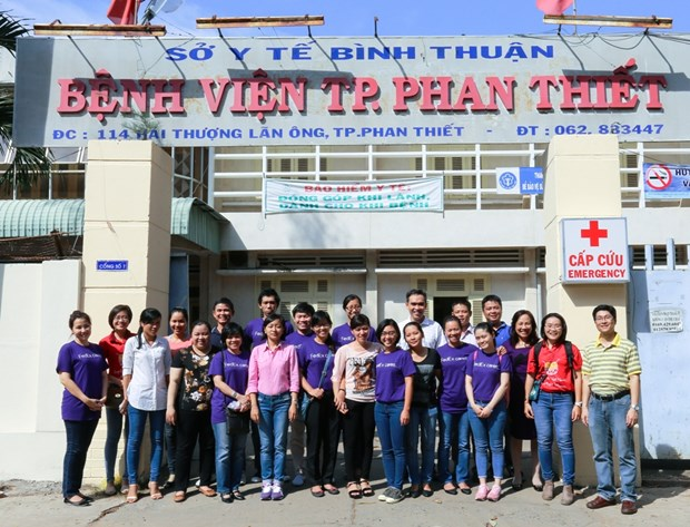 FedEx kham chua tim mien phi cho tre em o Thai Binh va Binh Thuan hinh anh 1