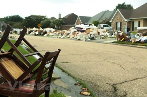 [Photo] Thanh pho Baton Rouge hoang tan sau tran lu lut khung khiep hinh anh 4