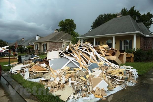 [Photo] Thanh pho Baton Rouge hoang tan sau tran lu lut khung khiep hinh anh 14