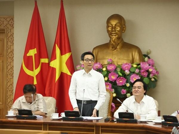 """Pho Thu tuong Vu Duc Dam: """"Cu noi dat hang, nhung may nam chua lam"""