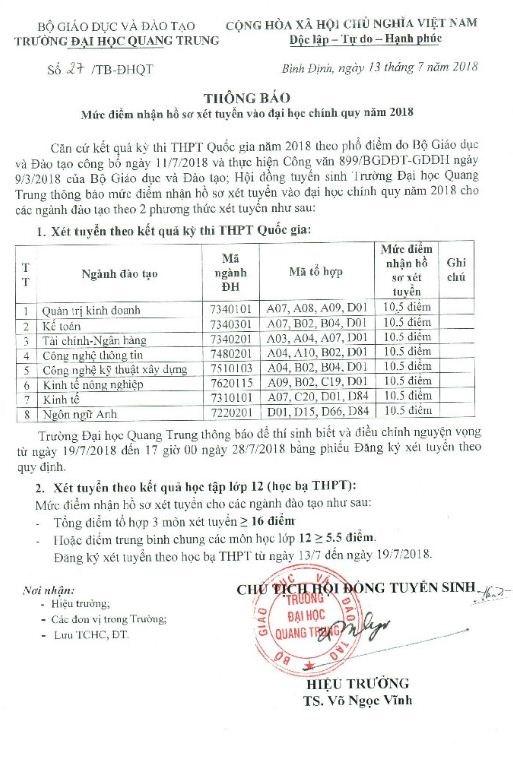 Tuyen sinh dai hoc 2018: Chi can dat 3,5 diem/mon se do? hinh anh 2