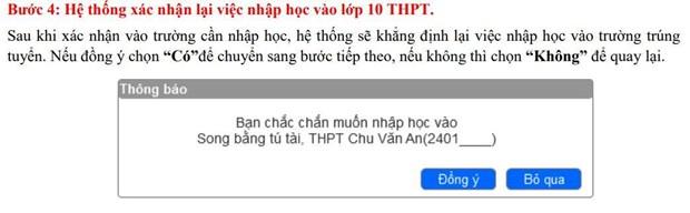 So Giao duc Ha Noi huong dan chi tiet cach xac nhan nhap hoc vao 10 hinh anh 5