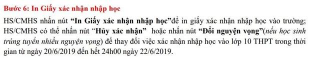 So Giao duc Ha Noi huong dan chi tiet cach xac nhan nhap hoc vao 10 hinh anh 7