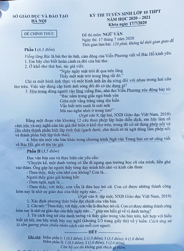 Thi vao 10: Thi sinh danh gia de van de, nhung van vua mung vua… lo hinh anh 2