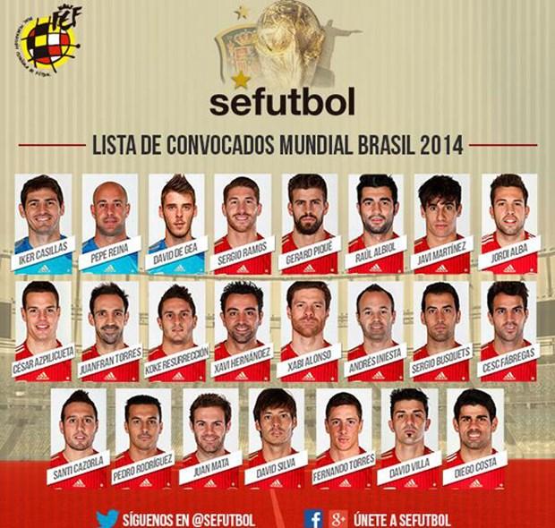 Doi tuyen Tay Ban Nha chot danh sach: Van co Diego Costa hinh anh 1