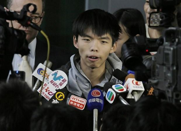Hong Kong: Thu linh sinh vien bieu tinh tuyen bo tuyet thuc hinh anh 1