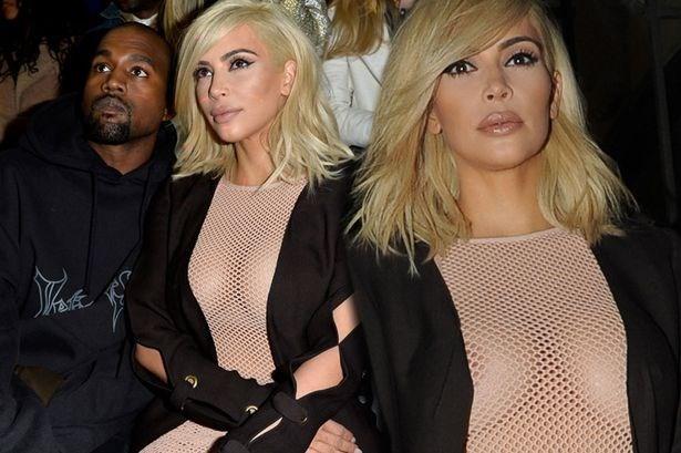 Kim Kardashian den Paris voi mai toc vang hoe va lo nguc tran hinh anh 1