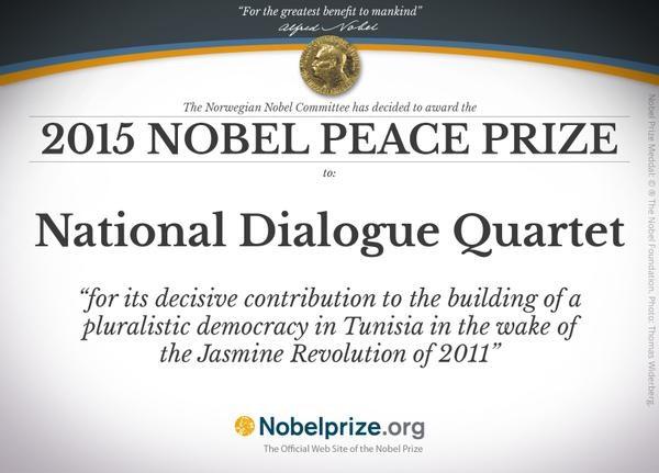 Nhom Bo Tu Doi thoai Tunisia gianh giai Nobel Hoa binh 2015 hinh anh 1