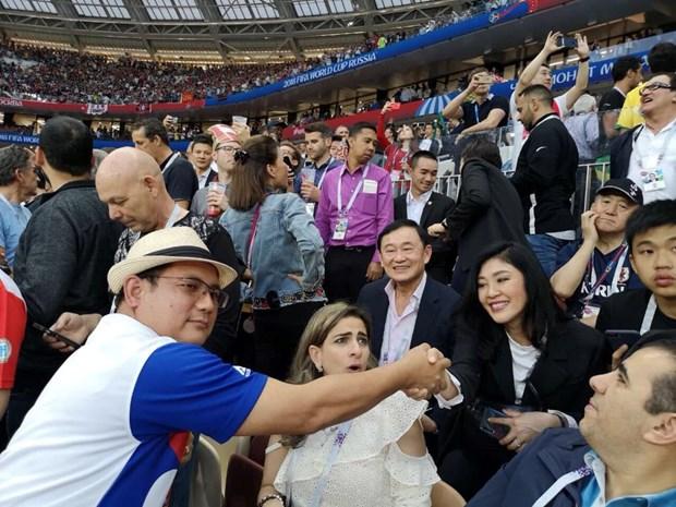 Anh em cuu Thu tuong Thai Lan Thaksin-Yingluck xem World Cup tai Nga? hinh anh 1