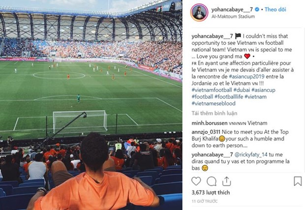 Tuyen thu Phap Cabaye gui tin nhan chuc Quang Hai toa sang o Asian Cup hinh anh 1