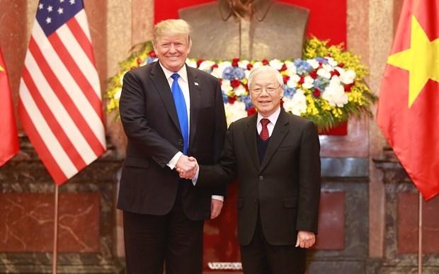Truc tiep: Tong bi thu, Chu tich nuoc don tiep Tong thong Donald Trump hinh anh 2