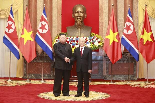 Le don Chu tich Trieu Tien Kim Jong-un tai Phu Chu tich hinh anh 10