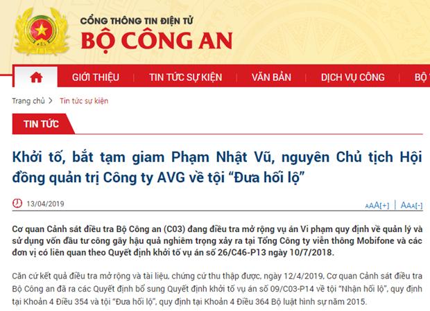 Ong Pham Nhat Vu bi bat tam giam voi cao buoc dua hoi lo vu AVG hinh anh 1